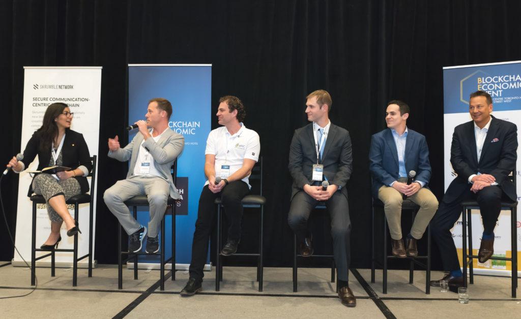 panel on volatility in cryptoassets at the blockchain economic event