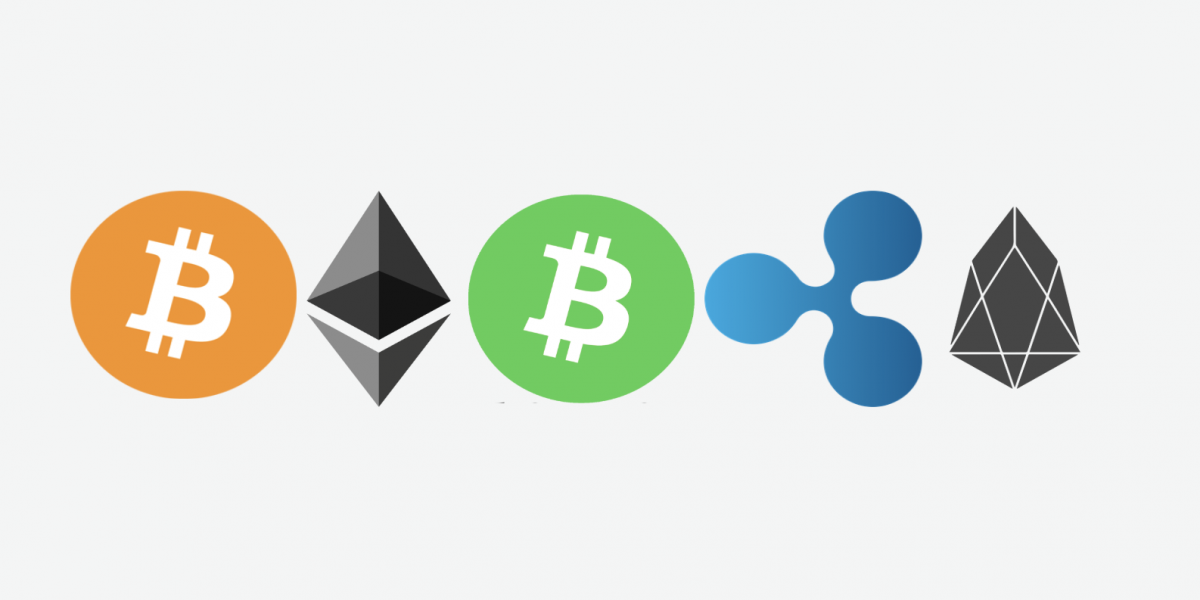 five biggest cryptocurrencies