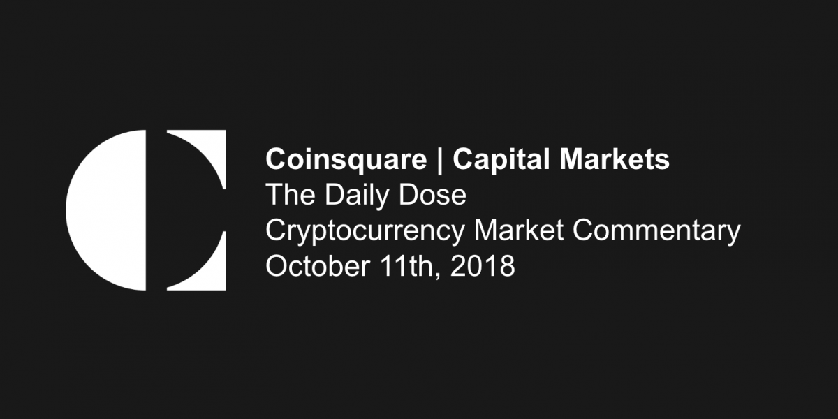 Daily Dose Cryptocurrency Market Commentary - 10.11.18